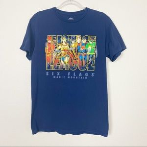 Six Flags Justice League Short Sleeve Graphic Tee